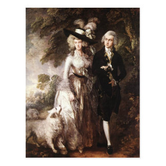 Cartão Postal O Sr. de Thomas Gainsborough e a Sra. William