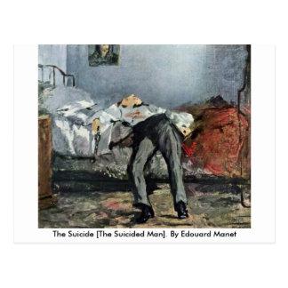Cartão Postal O suicídio [homem de Suicided]. Por Edouard Manet