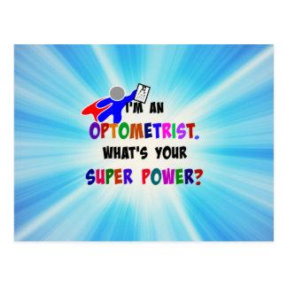Cartão Postal O super-herói do optometrista projeta