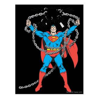 Cartão Postal O superman quebra correntes