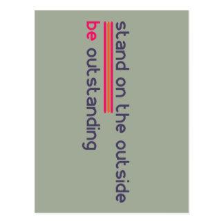 Cartão Postal O suporte na parte externa seja proeminente