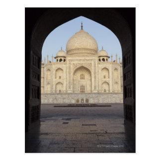 Cartão Postal o Taj Mahal quadro na entrada de Mehmankhana