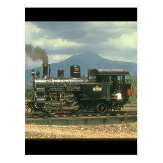Cartão Postal O tanque preservado da cremalheira levanta trens
