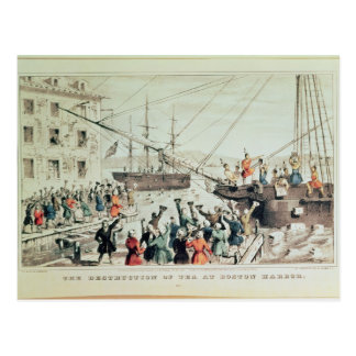 Cartão Postal O tea party de Boston, 1846