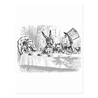Cartão Postal O tea party do Hatter louco