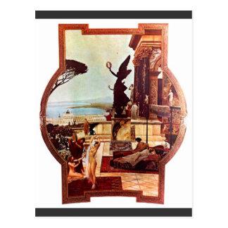 Cartão Postal O teatro de Taormina por Gustavo Klimt