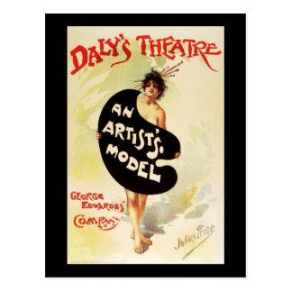 Cartão Postal O teatro do Daly do preço de Julius o modelo de um