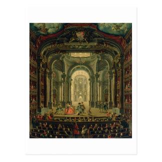 Cartão Postal O Teatro Reale em Turin (óleo em canvas)