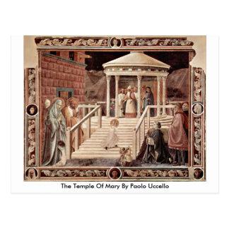Cartão Postal O templo de Mary por Paolo Uccello