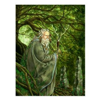 Cartão Postal O templo de Merlin