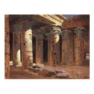Cartão Postal O templo do Isis na ilha Vasily Polenov de Philae