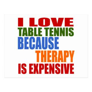 Cartão Postal O ténis de mesa é minha terapia