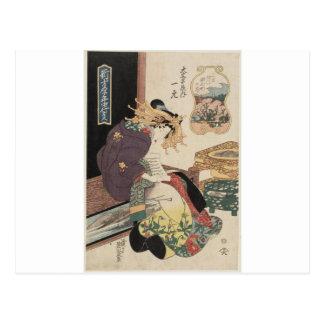Cartão Postal O terceiro mês, flores de cerejeira no