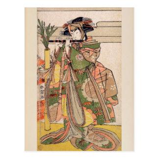 Cartão Postal O terceiro Segawa Kikunojo como uma mulher
