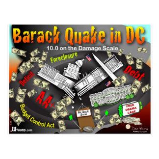 Cartão Postal O terramoto de Barack balança a C.C.