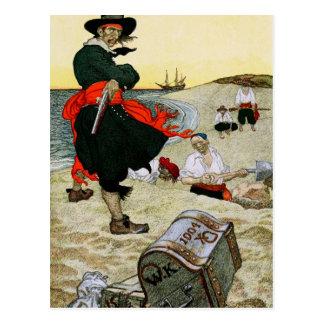 Cartão Postal O tesouro enterrado do pirata