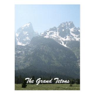 Cartão Postal O Tetons grande