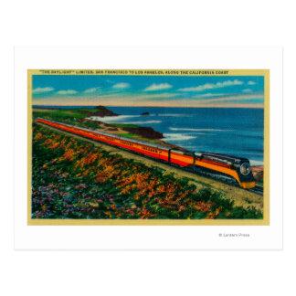 Cartão Postal O trem limitado luz do dia em Califórnia