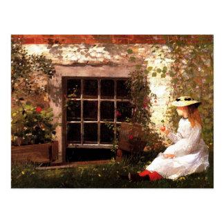 Cartão Postal O trevo da Quatro-Folha por Winslow Homer