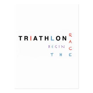 Cartão Postal O Triathlon deixou a raça começar