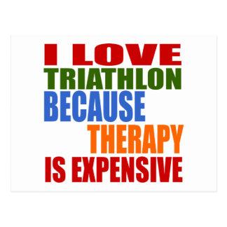 Cartão Postal O Triathlon é minha terapia