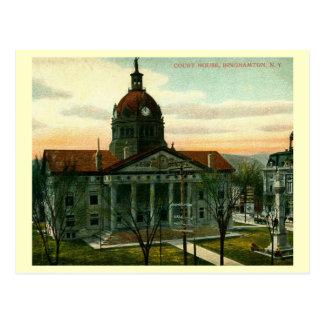 Cartão Postal O tribunal, vintage de Binghamton, New York