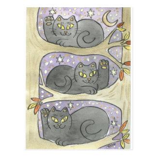 Cartão Postal O trio afortunado da árvore