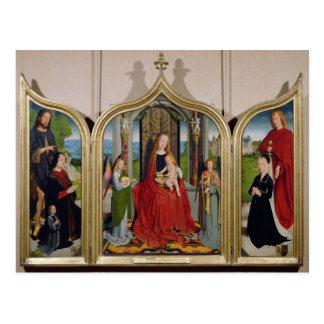 Cartão Postal O Triptych da família de Sedano, c.1495-98