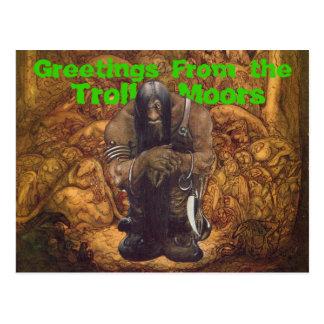 Cartão Postal O troll amarra cumprimentos