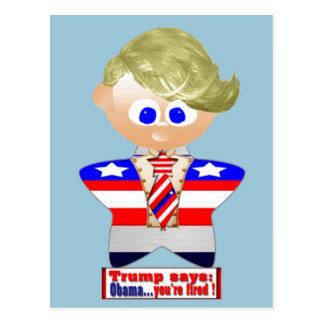 Cartão Postal O trunfo diz Obama que você é ateado fogo