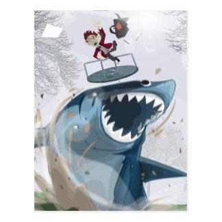 Cartão Postal O tubarão no parque (trabalhos artísticos