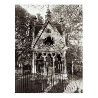 Cartão Postal O túmulo de Abelard e de Heloise, construído em