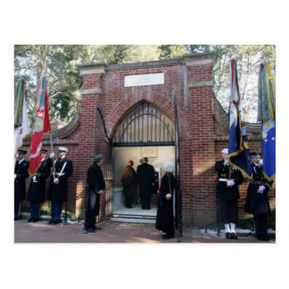 Cartão Postal O túmulo de Washington da visita de George W. & de