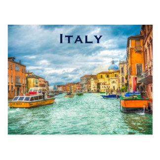 Cartão Postal O turismo das viagens vintage de Italia adiciona