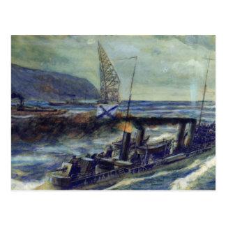Cartão Postal O u-barco alemão U 56 afundado por Grozovoi