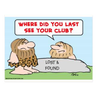 Cartão Postal o último considera os homens das cavernas do clube