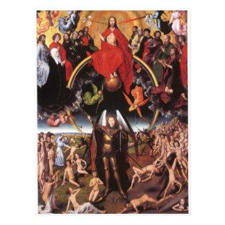 Cartão Postal O último julgamento. Hans Memling; c. 1467-1471