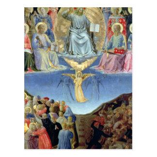 Cartão Postal O último julgamento, painel central de um Triptych