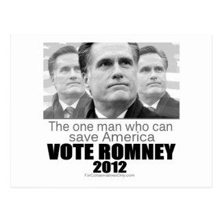 Cartão Postal O um homem que pode salvar América - Romney 2012