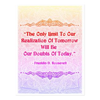 Cartão Postal O único limite - Quote´s positivo