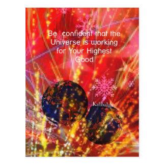 Cartão Postal O universo trabalha para você