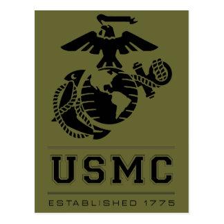 Cartão Postal O USMC estabeleceu 1775