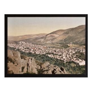 Cartão Postal O vale de Napulus, (isto é, Nablus), cla da Terra