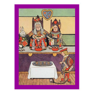 Cartão Postal O valete dos corações demonstra