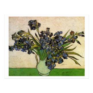 Cartão Postal O vaso com violeta torna iridescentes belas artes