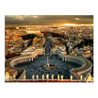 Cartão Postal O vaticano quadrado de St Peter