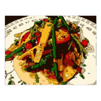 Cartão Postal O vegetariano Savory da ervilha verde e do tomate
