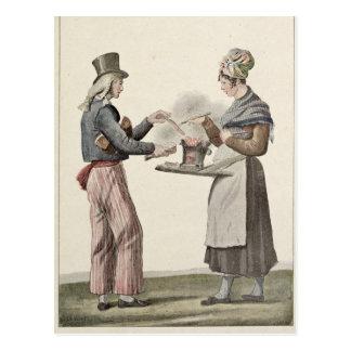 Cartão Postal O vendedor da salsicha