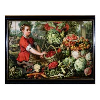 Cartão Postal O vendedor vegetal
