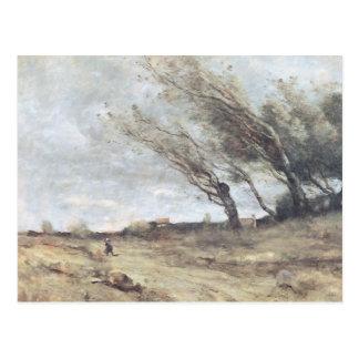 Cartão Postal O ventania de vento, c.1865-70